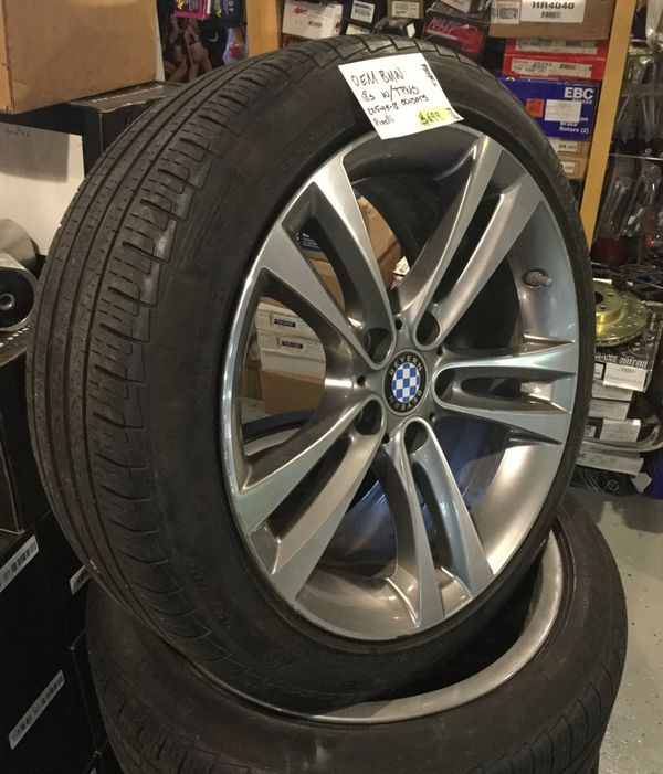OEM BMW 18 Inch Wheels With TPMS Sensor Wrapped In 225-45