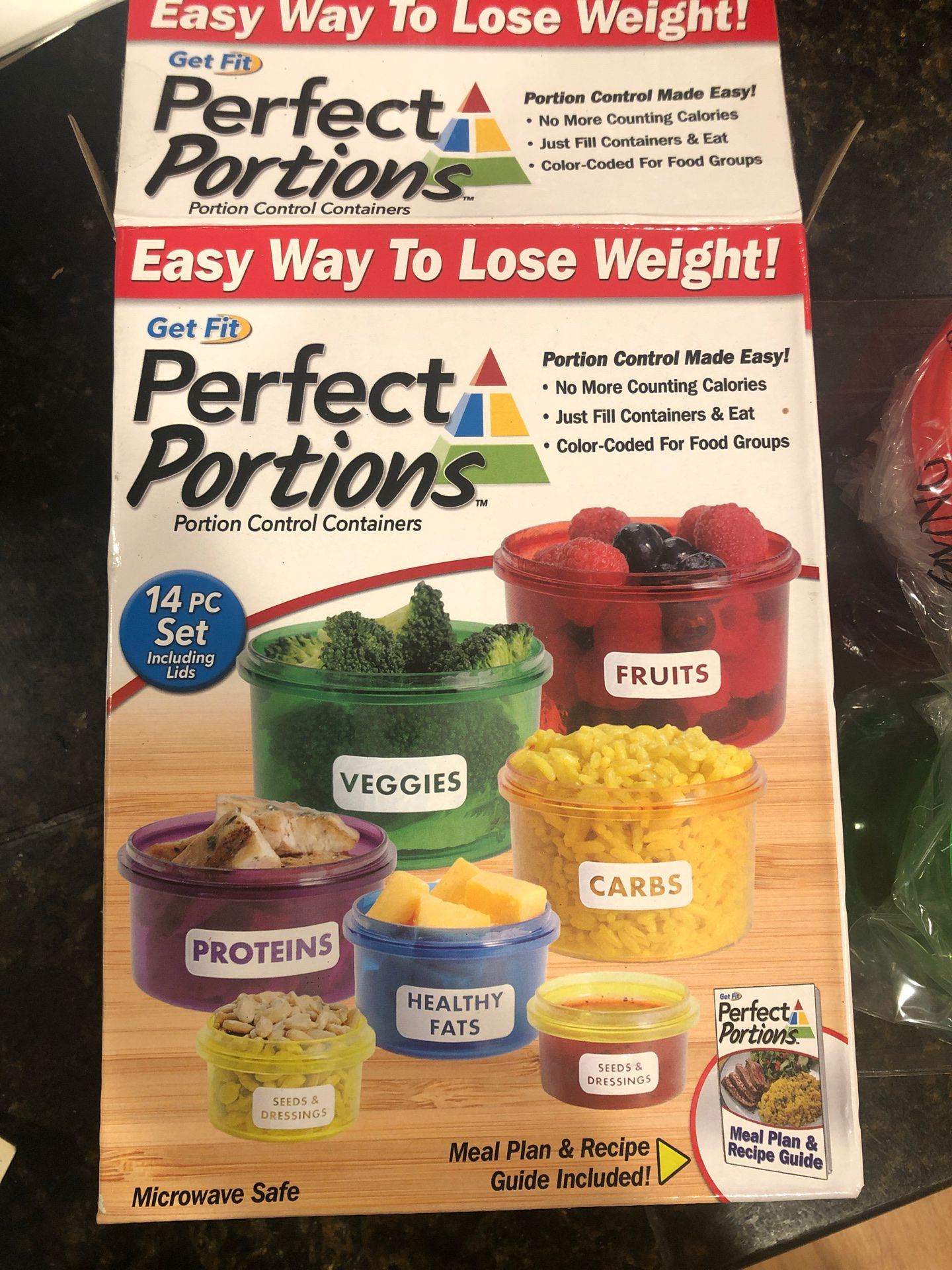 Perfect portion meal prep