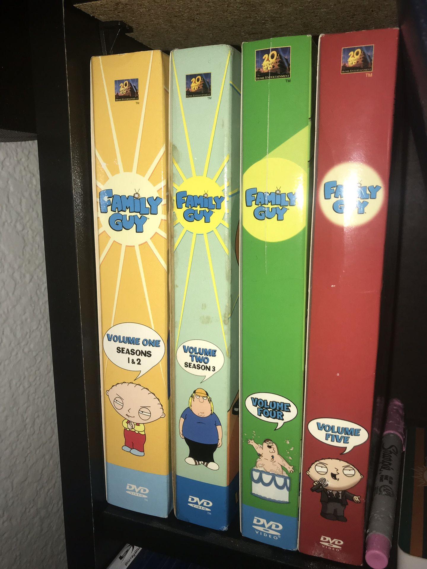 Family guy dvd season 1-5 movies