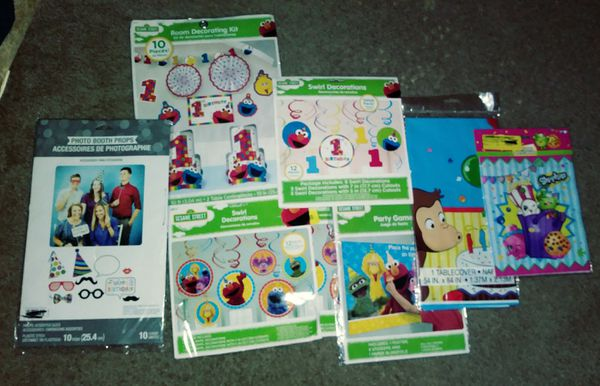 Sesame Street 1st Birthday Decorations