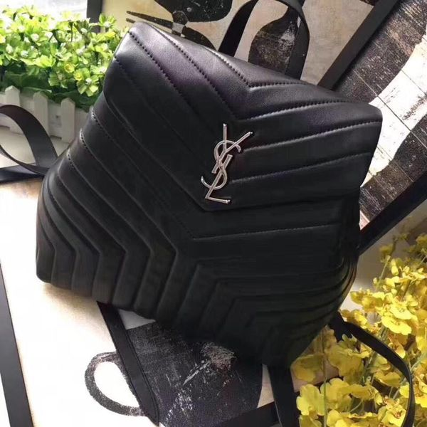 4a6d86b6226e YSL Loulou Monogram Large Y-Quilted Backpack