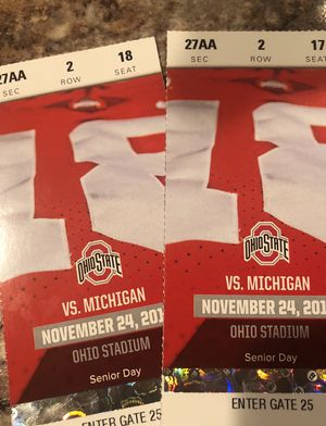 Ohio St vs. Michigan tickets for Sale in Westerville, OH