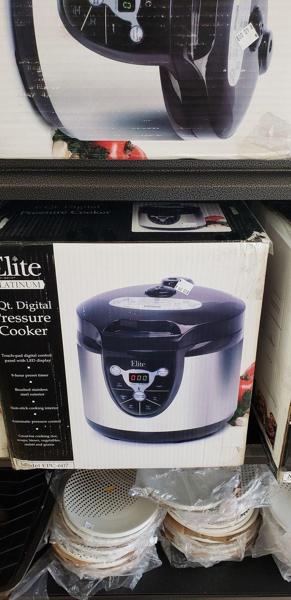 Elite Platinum Pressure Cooker 6qt for Sale in Tustin, CA - OfferUp