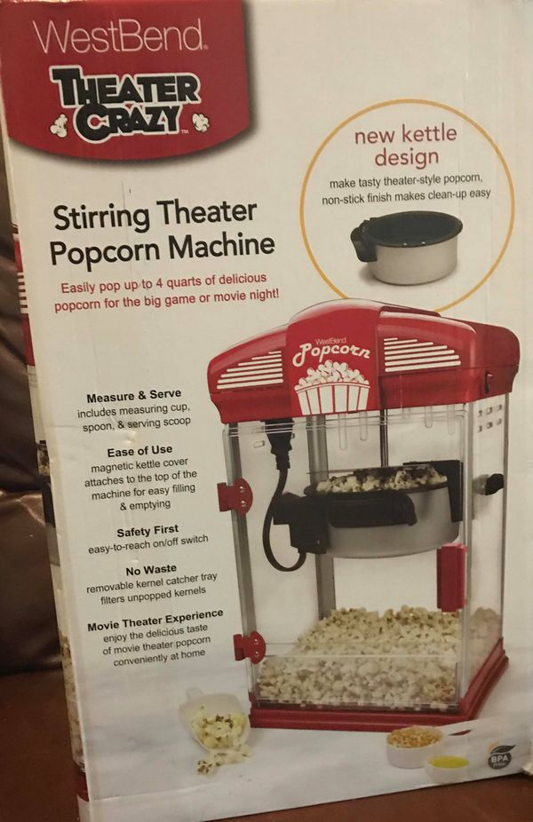 Westbend Theater Popcorn Machine For Sale In Deer Park Tx Offerup