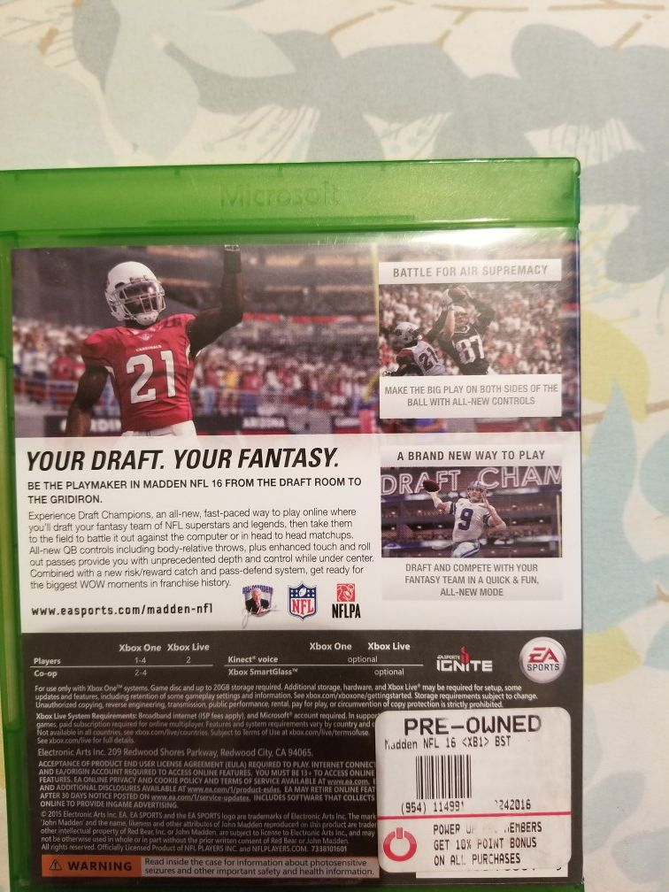 Madden 16 for xbox one