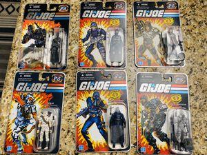 Photo 25th Anniversary GI Joe set of 6 figures ( sold as set only) RARE