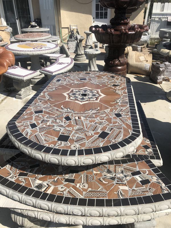 Concrete Patio Table Set For Sale In Beaumont Ca Offerup