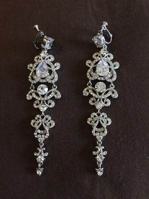 "Beautiful 4"" Clip-on Earrings for Special Occasions for Sale in Los Angeles, CA"
