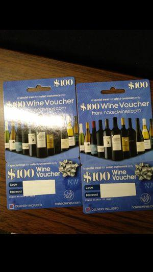 $200 Wine Voucher for Sale in Nashville, TN