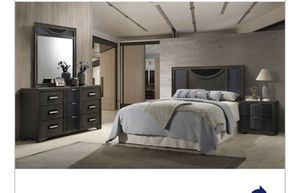 Queen bed frame night stand mirror headboard dresser for Sale in Washington, DC