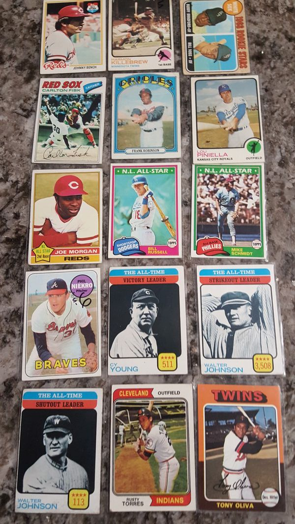 Lot Of 15 Vintage Baseball Card Collection For Sale In Fresno Ca Offerup