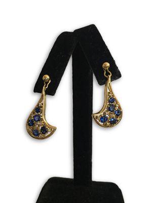 18k sapphire/diamonds earrings for Sale in Alexandria, VA