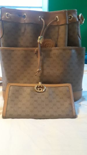 Vintage Gucci bag and matching wallet for Sale in Aspen Hill, MD
