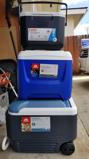 Igloo and Coleman Coolers for Sale in Lawndale, CA