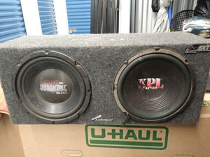 2 10 subs n amp for Sale in Miami, FL