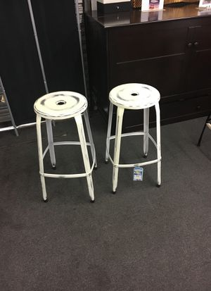 White barstools set of two for Sale in Lincolnia, VA