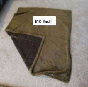 Photo Suede and Sherpa Blankets (Brown)