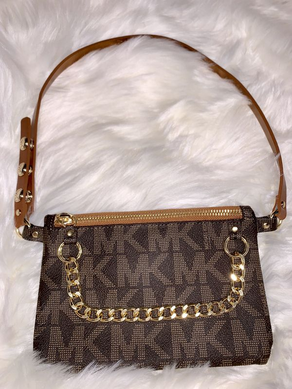 371cbddf403c (SIZE SMALL) Brown and Gold Michael Kors Mk hip Pack waist pouch 554131 for  Sale in Mesa, AZ - OfferUp