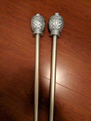 """Curtain rods 3/4"""" 66-120"""" - silver for Sale in New York, NY"""