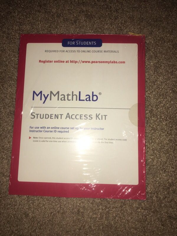 Mymathlab Student Access Kit For Sale In Norfolk Va Offerup