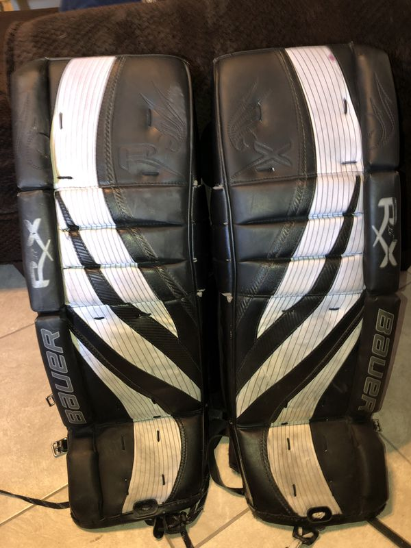 Hockey Goalie leg pads Bauer RX limited edition (32+1) for Sale in Phoenix,  AZ - OfferUp