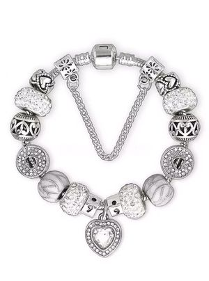 New Silver and crystal charm Bangle ( bracelet) for Sale in Centreville, VA