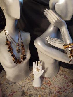 Set Lot Brown Jellyfish Necklace Bracelet Earrings Thumbnail