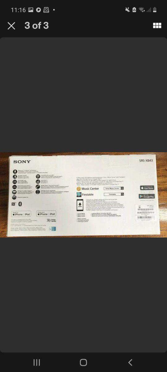 Sony Portable Bluetooth Led