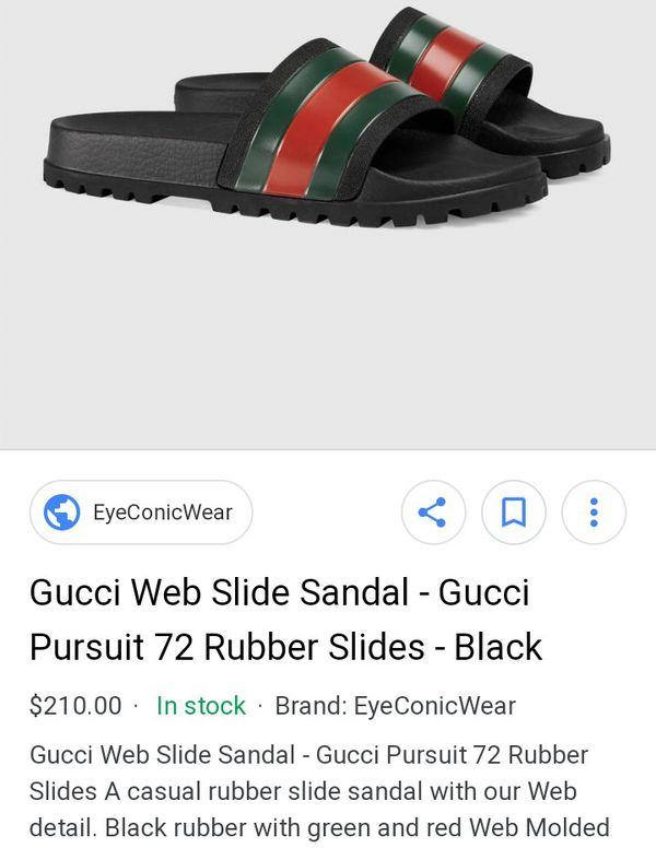 b51c3a78467880 Gucci Web Slides Men s Size 12 for Sale in Salt Lake City