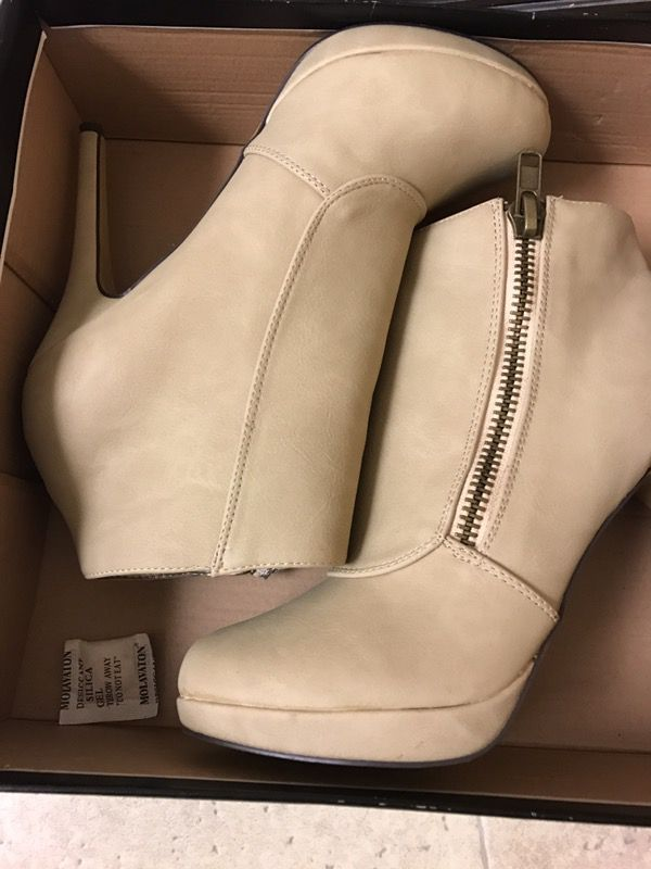 Ivory ankle boots size 8.5