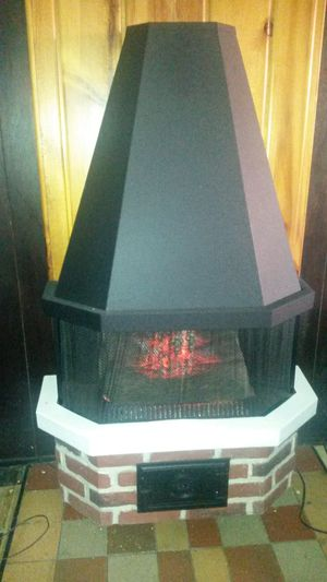 Beautiful retro electric fireplace with heat for Sale in Silver Spring, MD