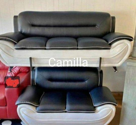 Veloce Black/White Living Room Set /sofa&loveseat 🖤39 $DOWN PAYMENT