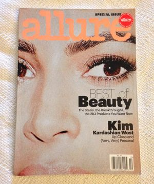 ALLURE OCTOBER 2017 BEST OF BEAUTY KIM KARDASHIAN WEST..never read...no mailing label on magazine for Sale in Madison Heights, VA