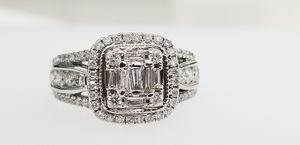 1 Carat Diamonds White Gold Engagement Ring No Credit Check