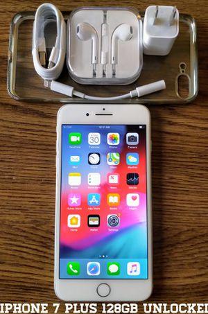 Iphone 7 Plus 128GB UNLOCKED + Accessories for Sale in Falls Church, VA