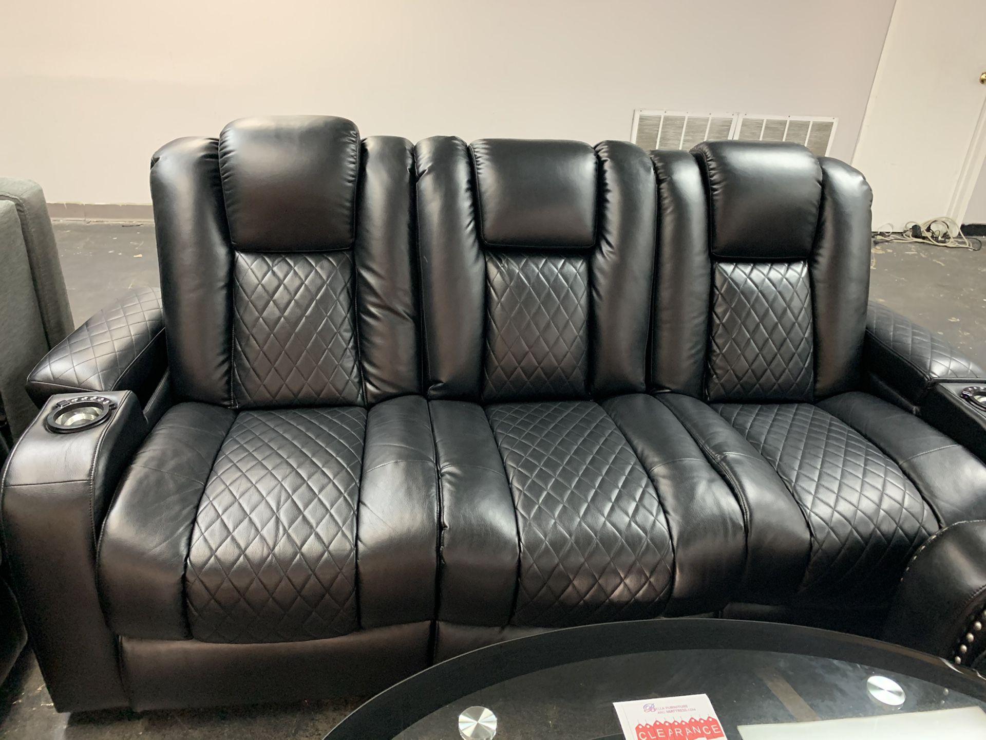 Delangelo power sofa & loveseat