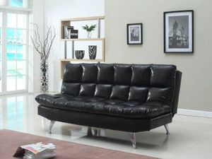 Brand New Black Leather Adjule Futon 200 For In Richmond Va