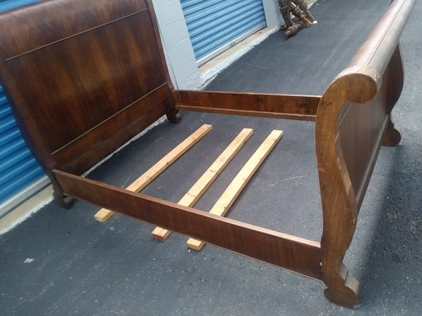 Antique full Size bed (frame board) free mattress included ...