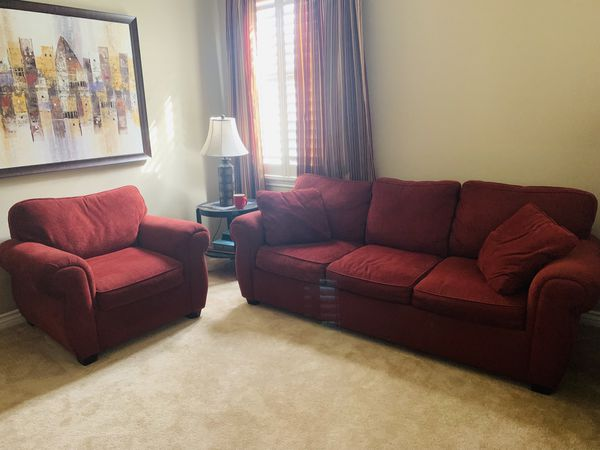 Burgundy Sofa Set for Sale in Temecula, CA - OfferUp