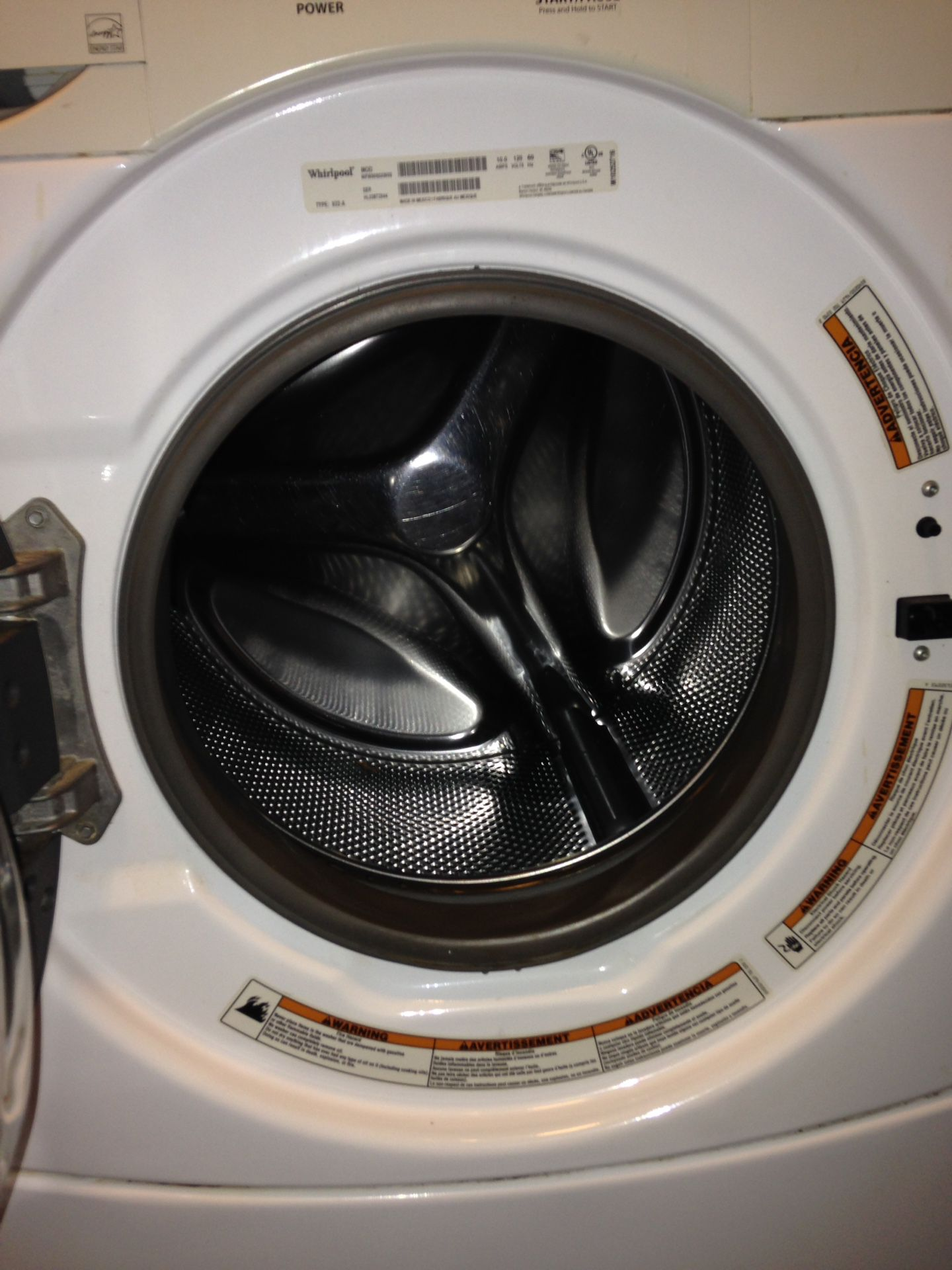 Whirlpool stackable washer&dryer