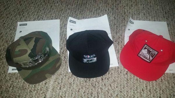 bf134c449e3 Supreme hats - brand new (price is per hat) for Sale in Beach Park ...