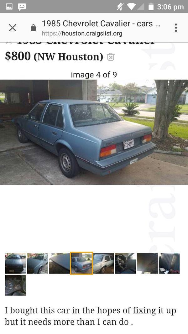 1985 Cavalier For Sale In Houston Tx Offerup