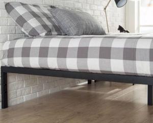 """Photo New!! Bed, king bed, king size bed, king platform bed , metal 14"""" king platform beds wooden slats support, king foundation, king bed base. bedroom"""