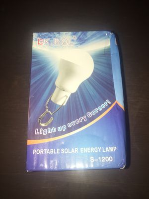 Portable Solar Energy Lamp for Sale in Silver Spring, MD