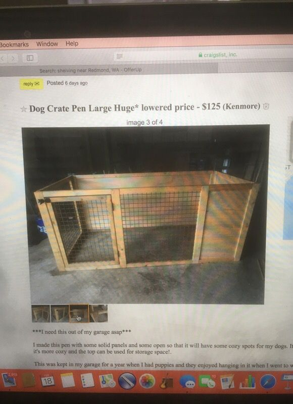Large dog crate pen for Sale in Kenmore, WA - OfferUp