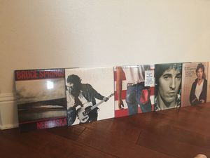 Five Bruce Springsteen Record albums, excellent condition for Sale in Tampa, FL