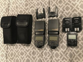 Yongnuo flashes (2), triggers (2), and controller Thumbnail
