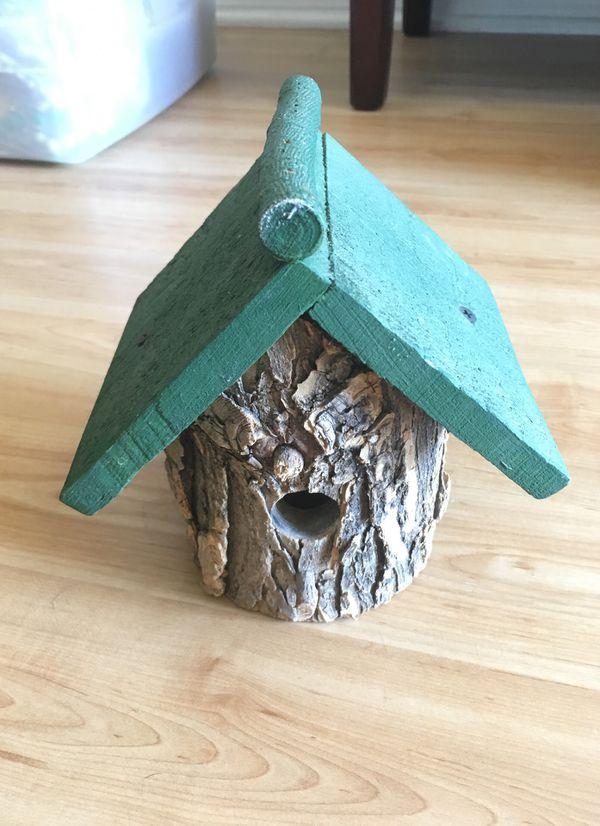 Cute Wood Wooden Birdhouse Home Decor