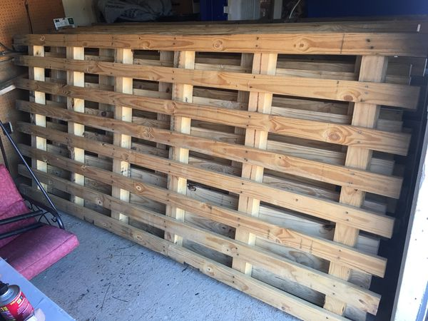 """Lumber wood pallets 2""""x4"""" 4""""x4"""" 10 ft long 7 of them for Sale in  Winston-Salem, NC - OfferUp"""
