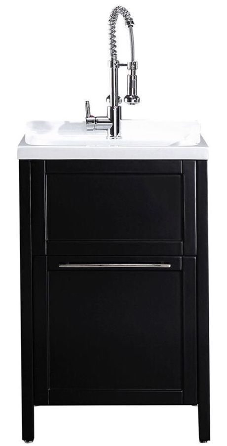 24 In X 22 In X 37 8 In Acrylic Utility Sink With Cabinet In